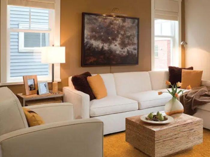 Cửa sổ nhôm kính chớp lật được lắp đặt trong phòng khách