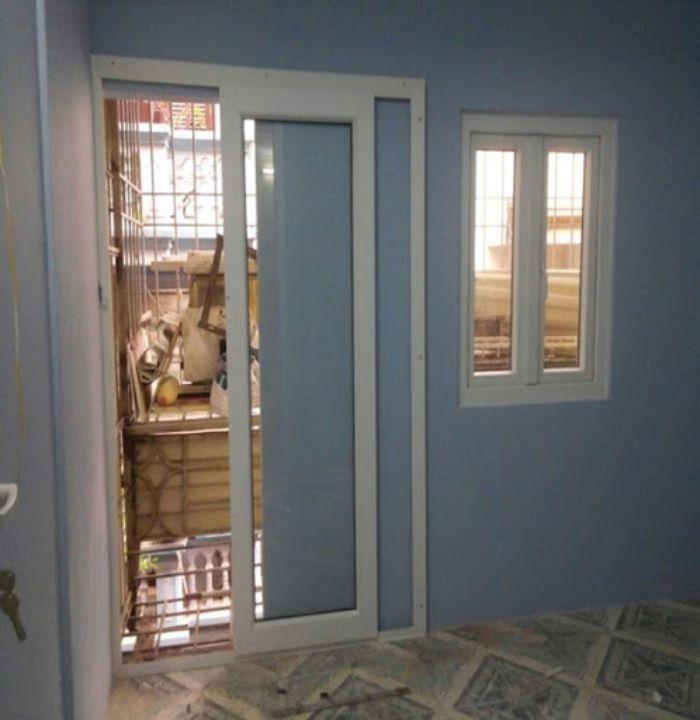 Cửa nhôm kính 1 cánh phòng ngủ lùa đẹp mẫu 4