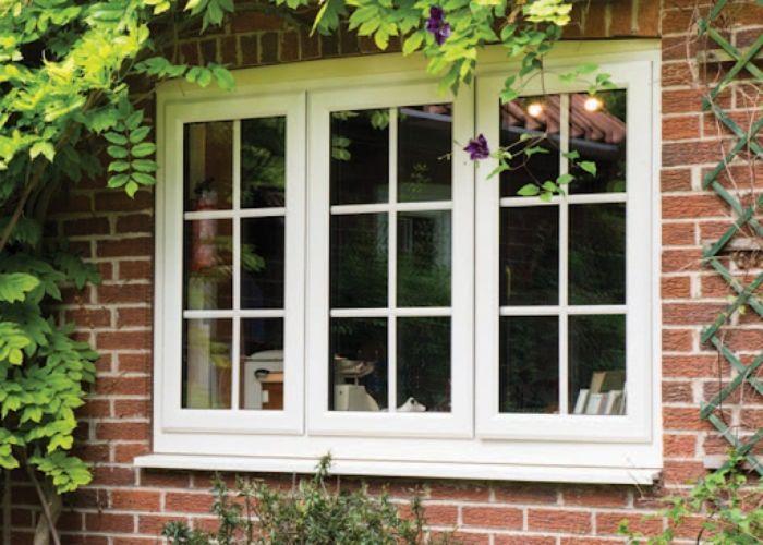 Mẫu cửa sổ nhôm kính chia ô nhôm xingfa trắng