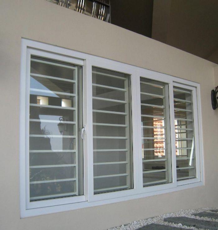 Mẫu cửa sổ nhôm kính chia ô ngang