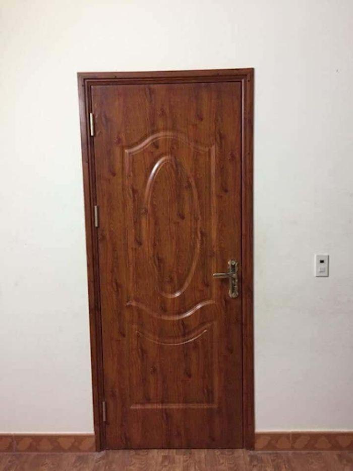Cửa nhôm kính vân gỗ 1 cánh mẫu 3