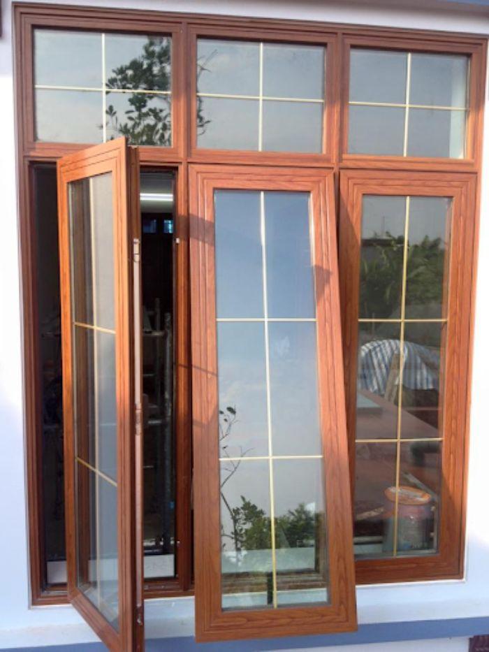 Cửa nhôm Xingfa vân gỗ mẫu 2