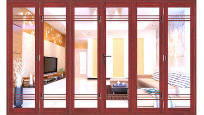Cửa nhôm Xingfa vân gỗ mẫu 3