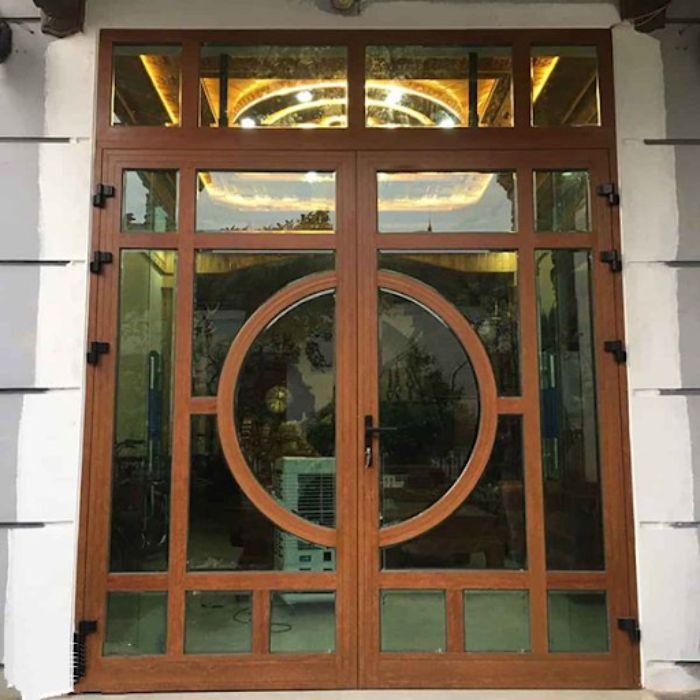 Cửa nhôm Xingfa vân gỗ mẫu 5