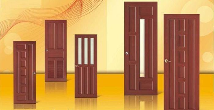 Cửa nhôm Xingfa phòng ngủ vân gỗ mẫu 1