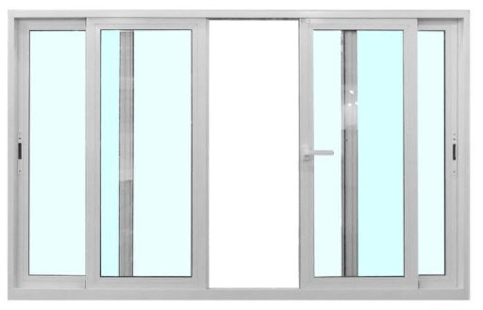 Mẫu cửa sổ nhôm kính mở trượt 2 cánh màu đen