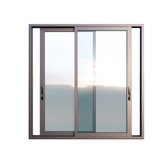Mẫu cửa sổ nhôm kính mở lùa 4 cánh màu đen