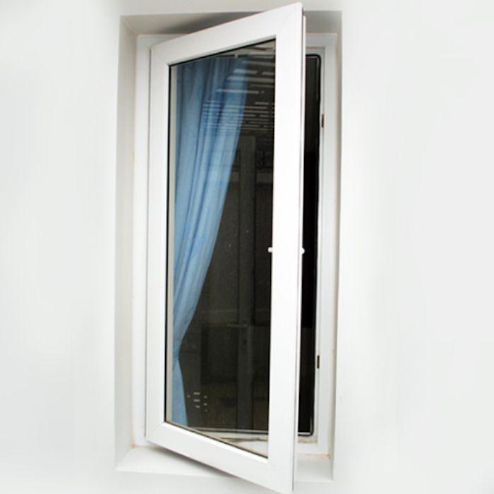 Mẫu cửa sổ 1 cánh màu trắng mở quay
