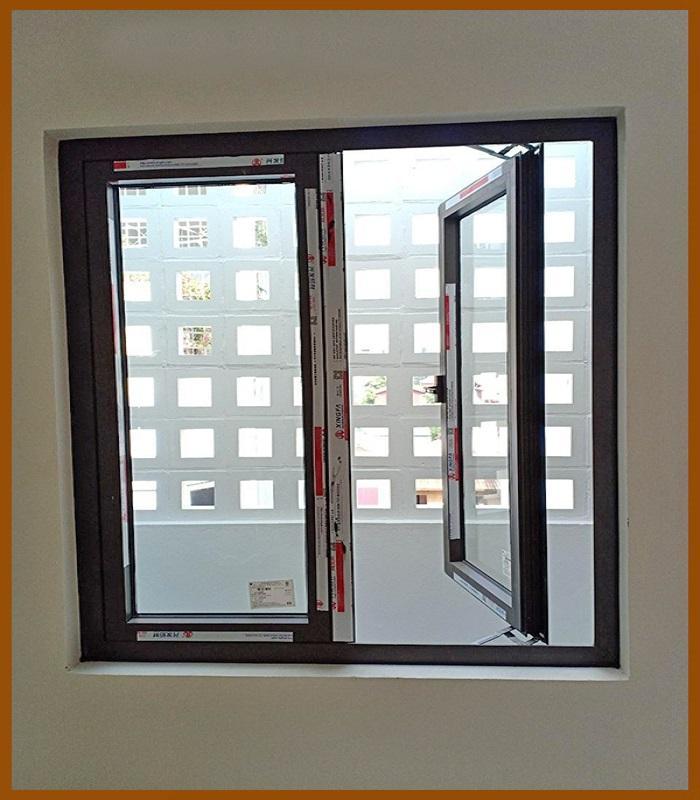 Mẫu cửa sổ nhôm kính 2 cánh - 3
