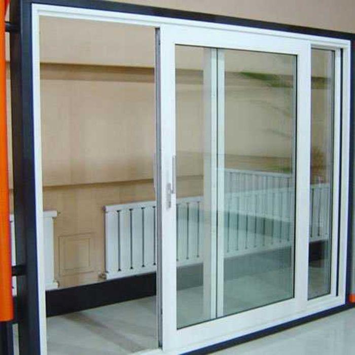 Mẫu cửa sổ nhôm kính 2 cánh trượt lùa màu trắng