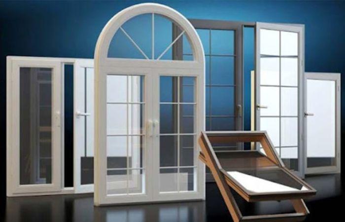Mẫu cửa sổ nhôm kính 2 cánh màu trắng mở quay được thiết kế hình vòm