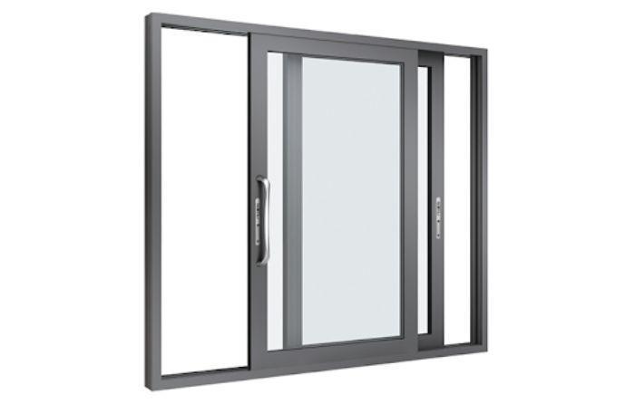 Mẫu cửa sổ nhôm kính Xingfa màu đen 2 cánh màu đen mở lùa
