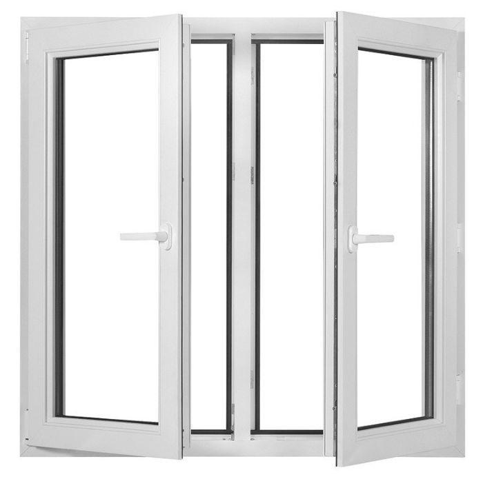 Mẫu cửa sổ nhôm kính Xingfa 4 cánh mở quay
