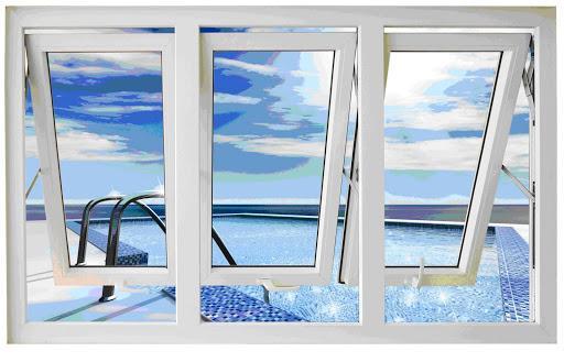 Mẫu cửa sổ nhôm kính mở hất - 4