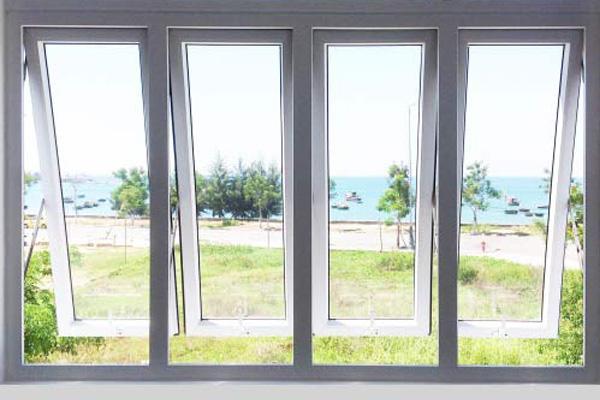 Mẫu cửa sổ nhôm kính mở hất - 5