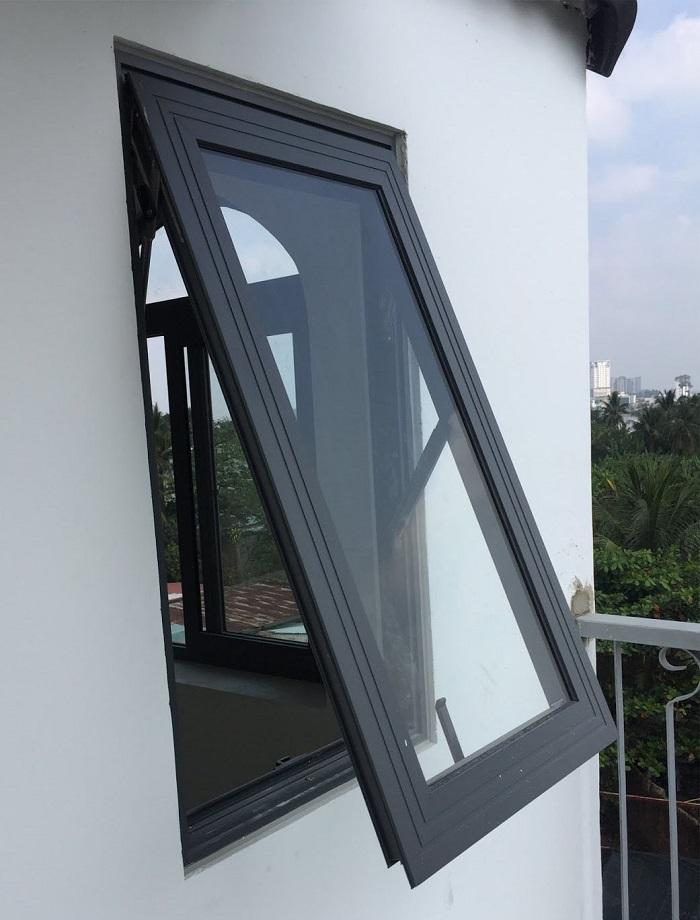 Mẫu cửa sổ nhôm kính 1 cánh mở hất - 6