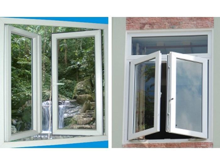 Mẫu cửa sổ nhôm kính mở quay - 9