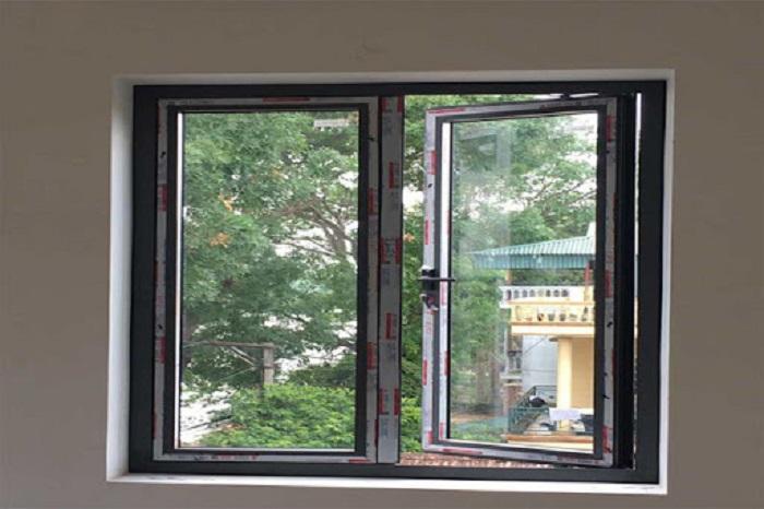 Mẫu cửa sổ nhôm kính mở quay - 6
