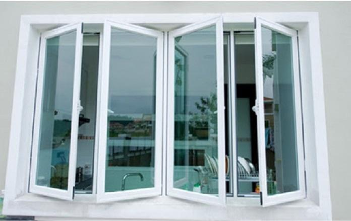 Mẫu cửa sổ nhôm kính mở quay - 2