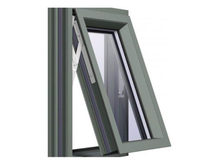 Mẫu cửa sổ nhôm kính mở lật 1 cánh màu đen