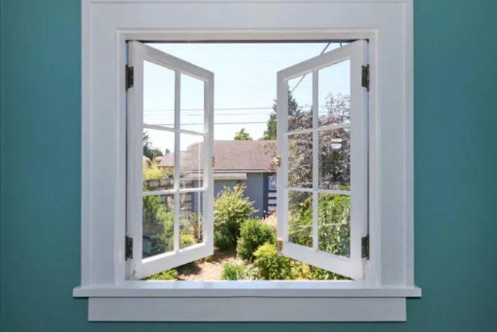 Cửa sổ nhôm kính Xingfa hệ 65 màu trắng 2 cánh chia ô
