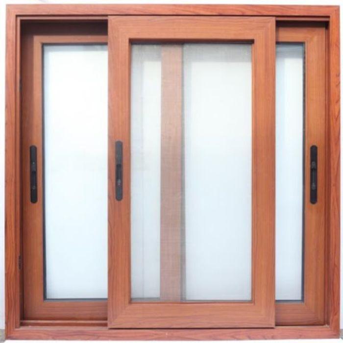 Cửa sổ sắt 2 cánh giả gỗ đóng mở dạng trượt