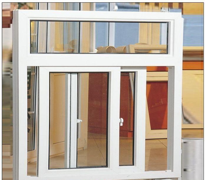 Cửa sổ sắt kính lùa 2 cánh màu trắng