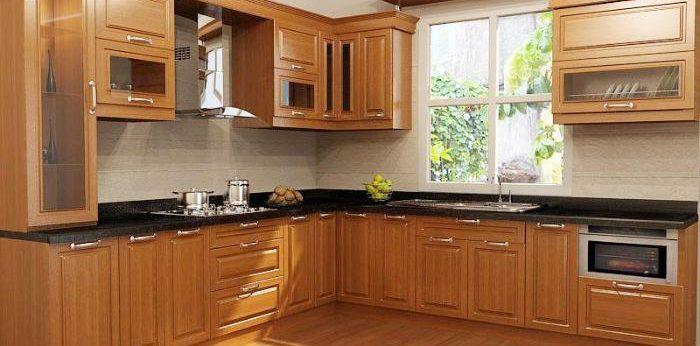 Tủ bếp nhôm kính chữ L về lâu dài sẽ phát ra âm thanh khi đóng mở tủ