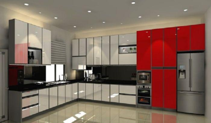 Tủ bếp nhôm kính khiến căn bếp đẹp hơn nhiều
