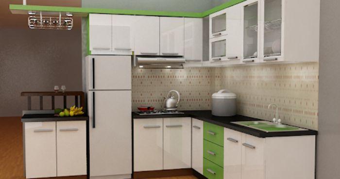Tủ bếp nhôm kính màu trắng kết hợp cùng kính mờ mẫu 4