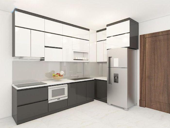Chất liệu nhôm xingfa cao cấp rất được ưa chuộng trong thiết kế tủ bếp