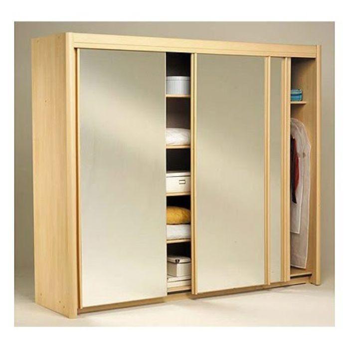 Tủ quần áo nhôm kính 3 buồng cửa lùa