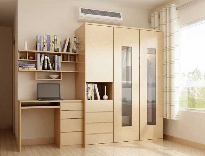 Tủ nhôm kính đựng quần áo có thiết kế nhỏ gọn cho phòng nhỏ vừa