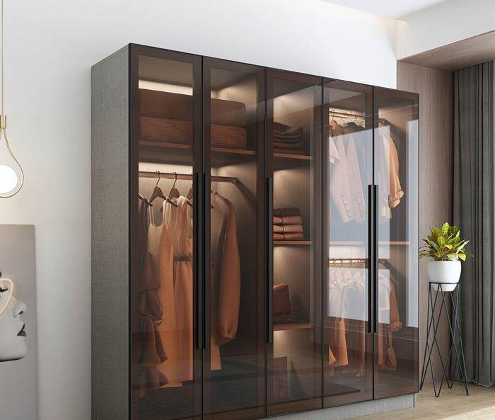 Tủ quần áo nhôm kính với thiết kế sang trọng