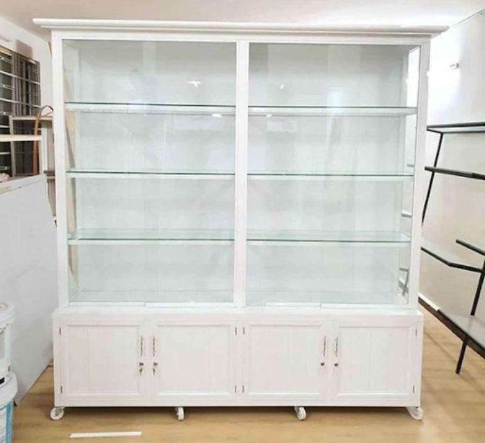 Tủ nhôm kính trưng bày mỹ phẩm mẫu 2