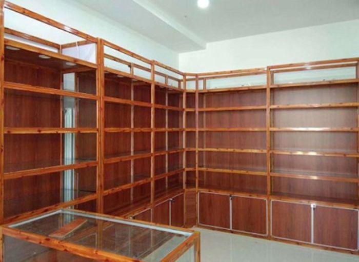 Tủ thuốc tây nhôm kính giả gỗ mẫu 4