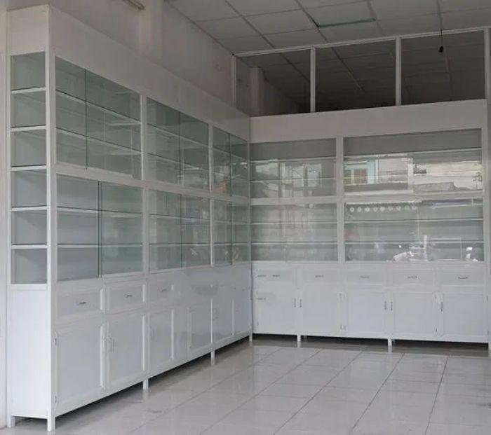 Tủ thuốc tây nhôm kính sơn tĩnh điện mẫu 5