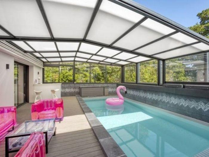 Mái hiên nhôm kính cho bể bơi ngoài trời