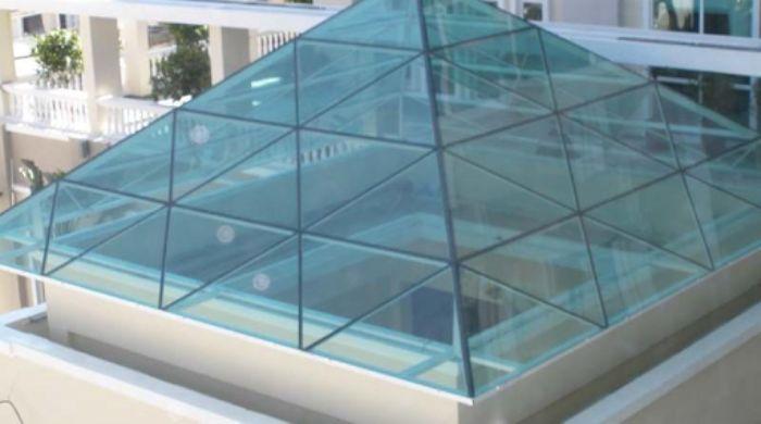 Mái kính cho giếng trời có thiết kế độc đáo