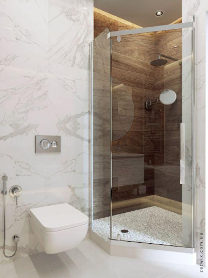 Phòng tắm kính 135 độ có khả năng cản nước hiệu quả