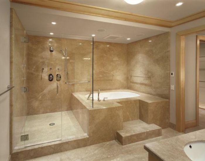 Phòng tắm kính như khách sạn mang lại cảm giác sang trọng