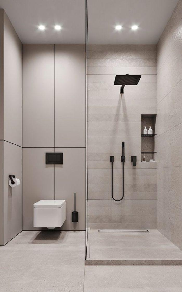 Phòng tắm kính đứng góc