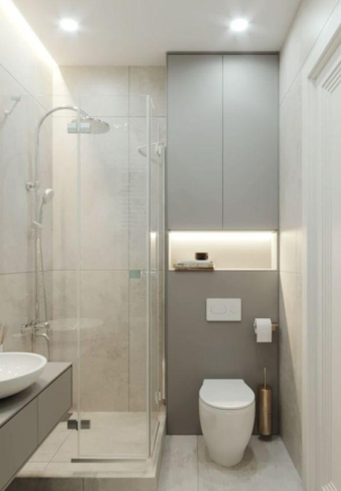 Phòng tắm 135 độ đứng góc