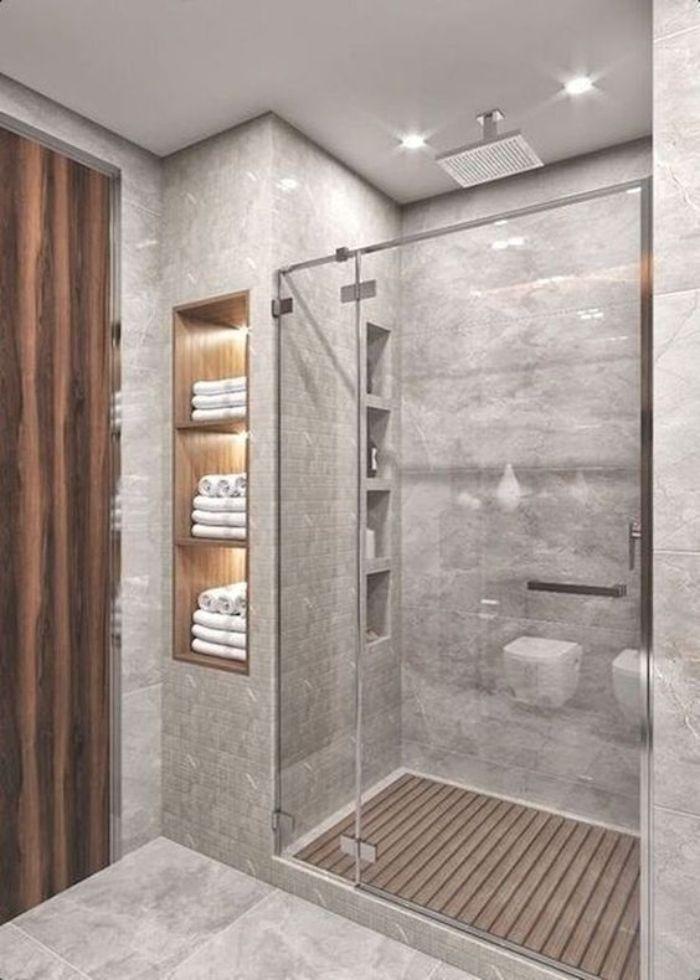 Phòng tắm kính đứng có cửa mở quay cao cấp
