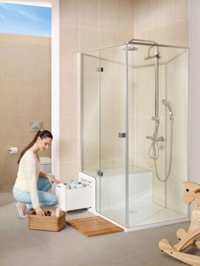 Phòng tắm sẽ có vách làm bằng kính cường lực