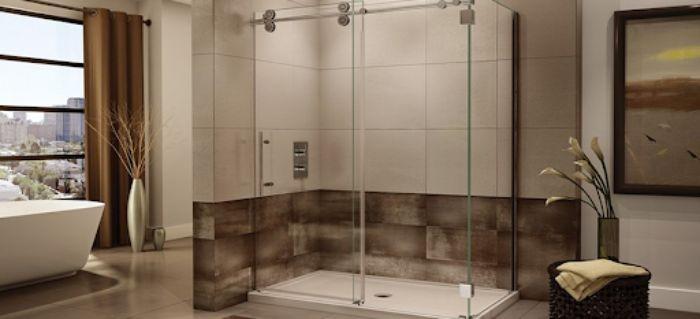 Phòng tắm kính lùa đứng cho không gian sang trọng