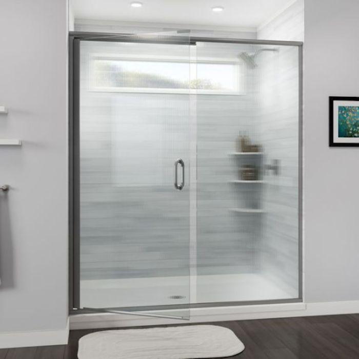 Phòng tắm kính lùa làm mờ toàn bộ phần vách ngăn