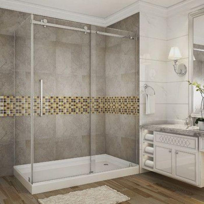 Phòng tắm kính lùa treo với phong cách hiện đại