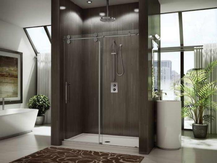 Phòng tắm kính lùa treo mang phong cách sang trọng