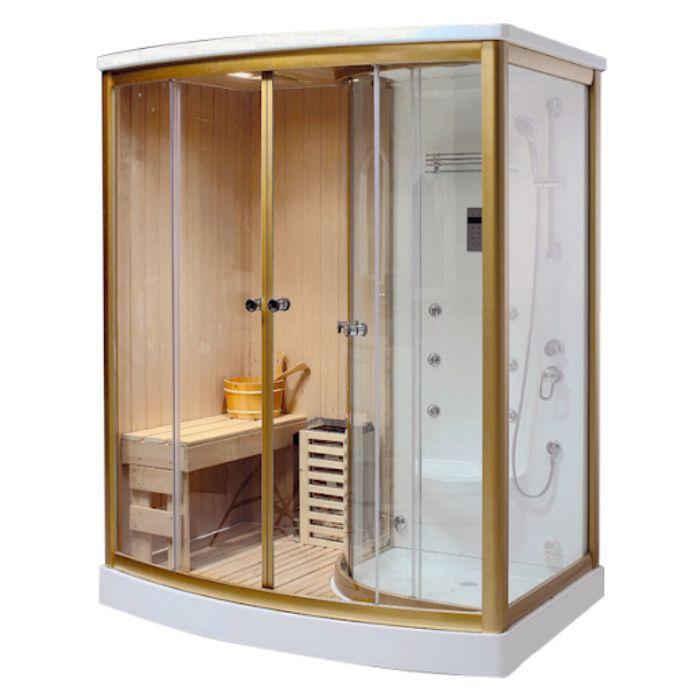 Phòng tắm xông hơi ướt sử dụng hơi nước nóng để tăng nhiệt độ cơ thể
